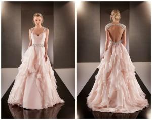 Vestido-De-Noiva-2015-Sexy-Backless-Wedding-Dresses-Peach-Colored-Wedding-Dresses-2015-Bridal-Gown-Casamento